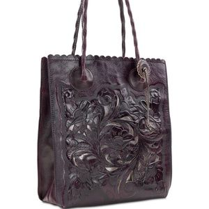 NEW! Patricia Nash Cavo Burnished Hand Tooled Tote